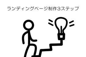 ランディングページ制作3ステップ